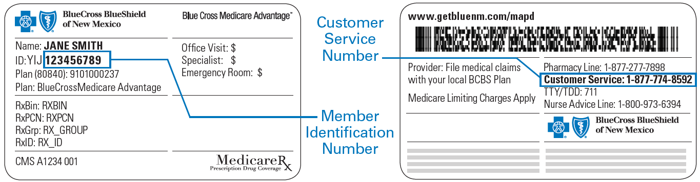Blue Cross Blue Shield Card Policy Number