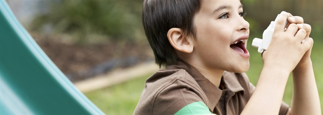 boy with inhaler