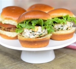 Lemon Herb Feta Chicken Sliders